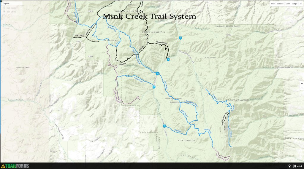 Hiking, Biking, ATV Trails - Pocatello Region Pocatello.net Mink Creek Trail System