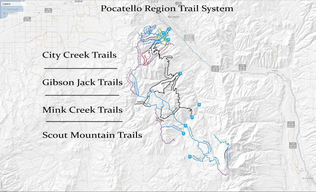 Hiking, Biking, ATV Trails - Pocatello Region