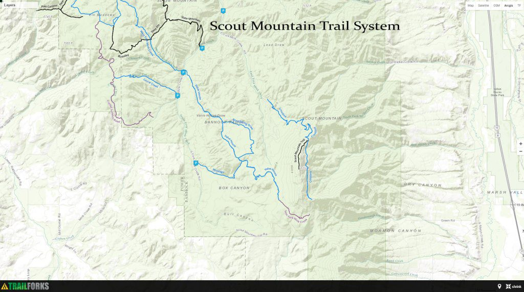 Hiking, Biking, ATV Trails - Pocatello Region Pocatello.net Scout Mountain Trail System