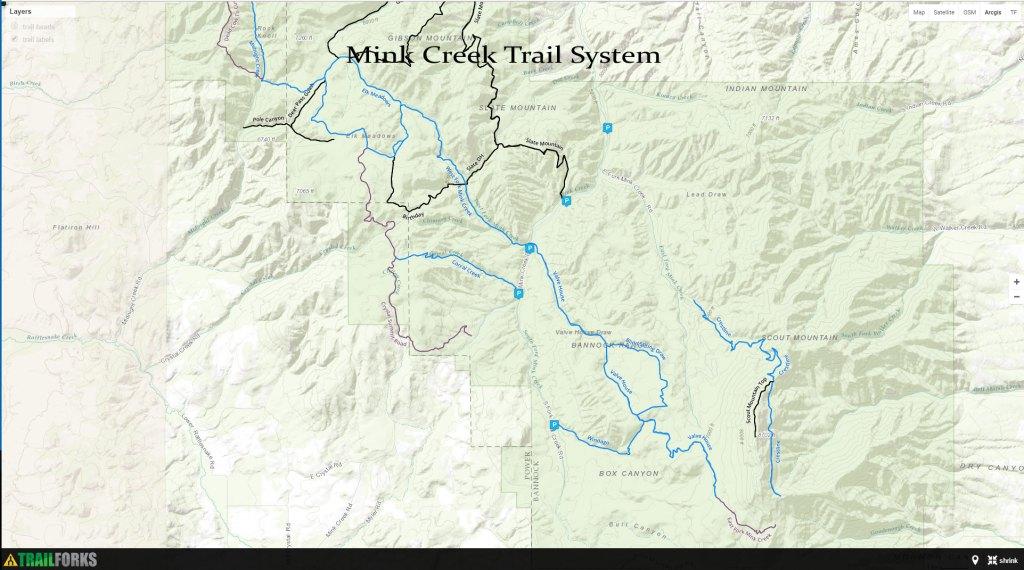 Hiking, Biking, ATV Trails - Pocatello Region Pocatello.net Mink Creek Trail System