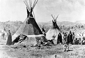 Chief Pocatello indian encampment