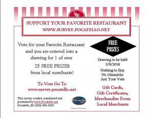 Pocatello.net Support Your Favorite Restaurant