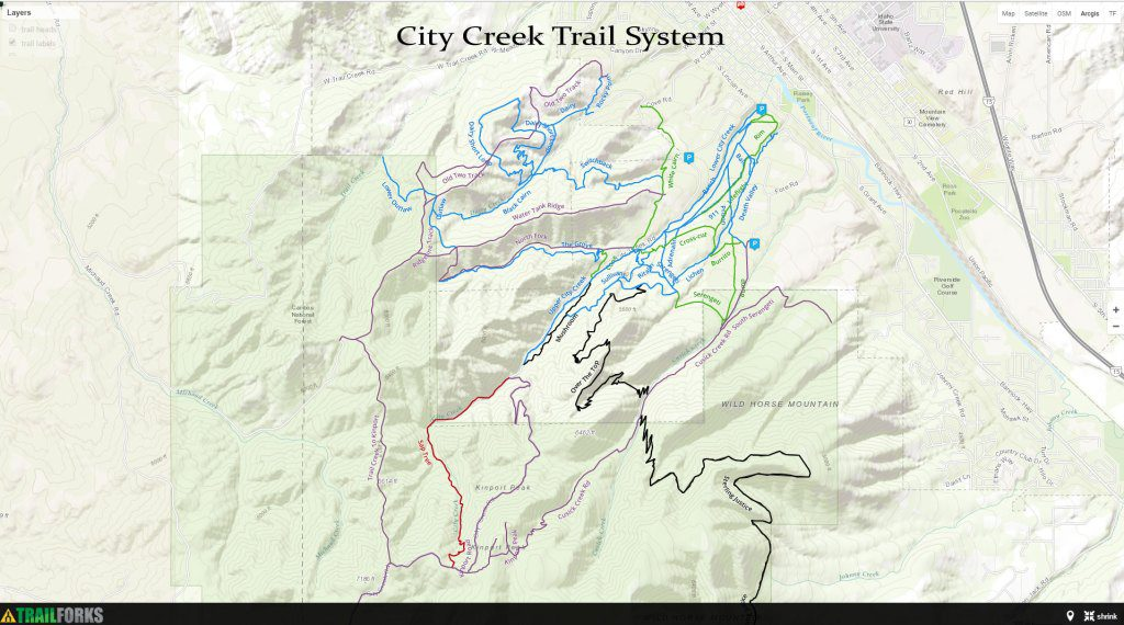 Hiking, Biking, ATV Trails - Pocatello Region Pocatello.net City Creek Trail System