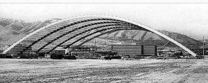 Holt Arena under construction